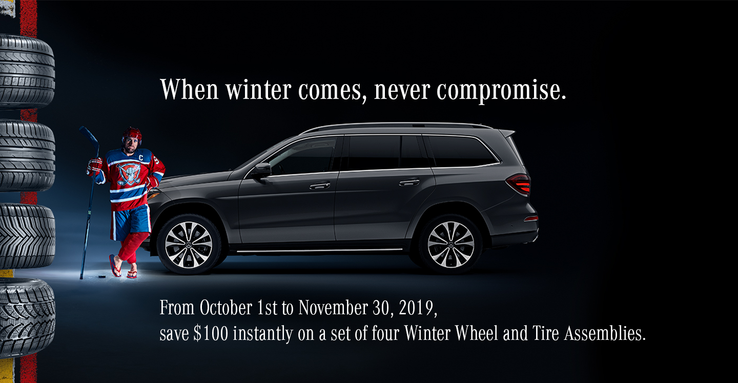 Save $100 instantly on a set of four winter wheel and tire assemblies