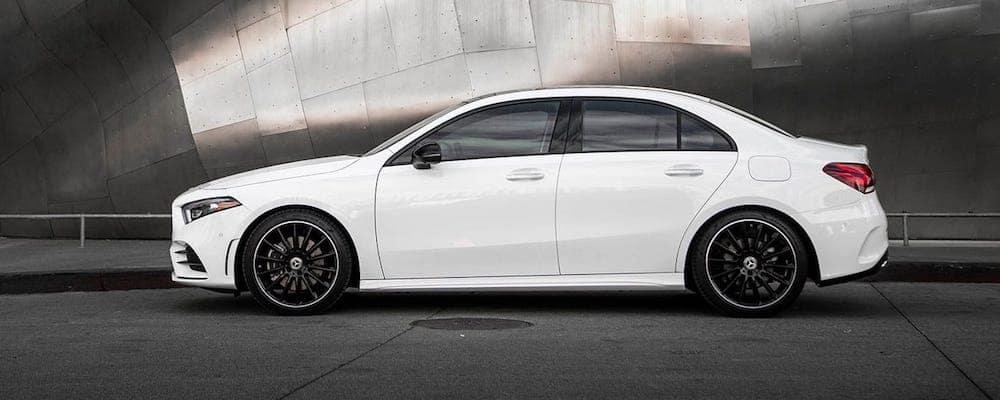 White 2019 Mercedes-Benz A-Class Profile View