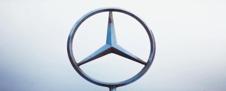 Mercedes-Benz Logo closeup
