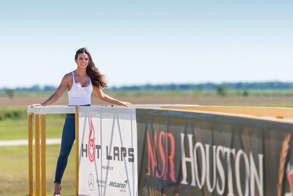 MIss Houston Miss USA Hot Laps Mercedes McLaren