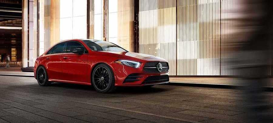 2019 Mercedes-Benz A-Class Red Parked