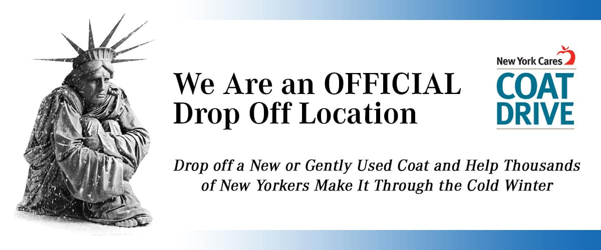 New York Cares Coat Drive header