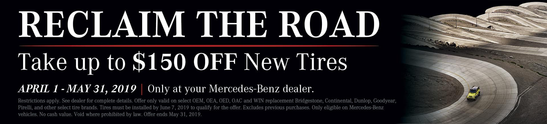 Reclaim the Road - Tire Offer