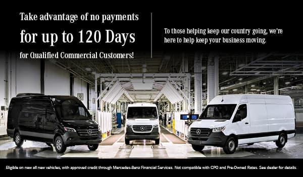 No Payments for up to 120 Days
