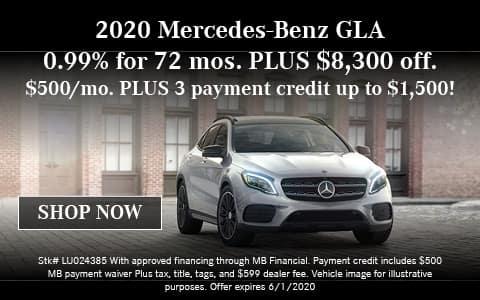 2020 Mercedes-Benz GLA Offer