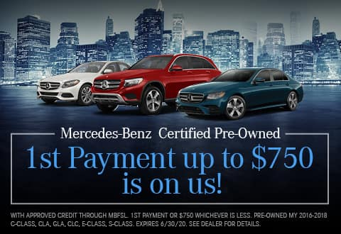 Mercedes-Benz Certified Pre-Owned - 1st Payment up to $750 is On Us!