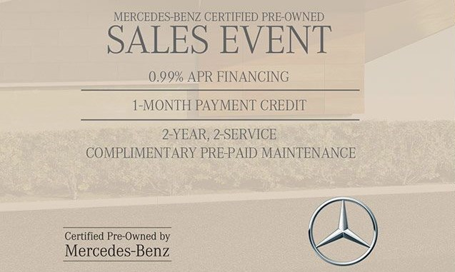 Find your perfect mercedes benz during the certified pre for Mercedes benz certified pre owned sales event