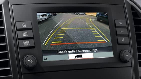 Metris Backup Camera Dashboard Display