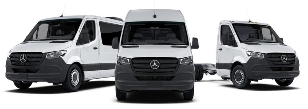3 Model Sprinter Vans lined up