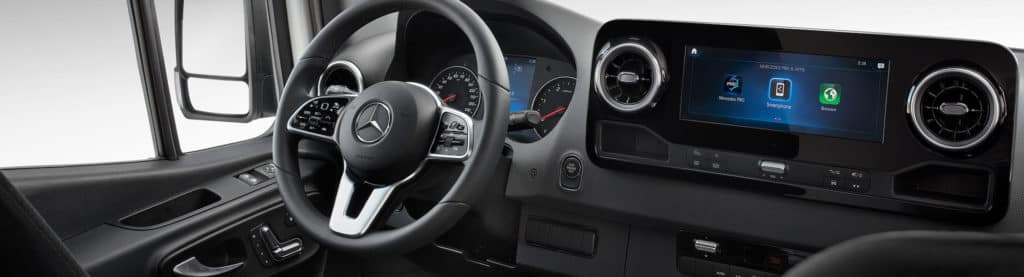 sprinter steering wheel and center console