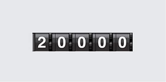 odometer reading 20,000 miles