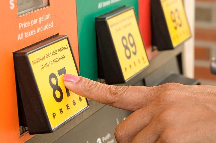 gas grade selection buttons