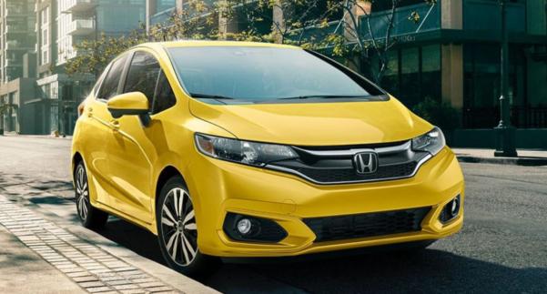 Yellow 2019 Honda Fit