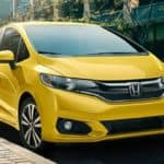 Yellow Honda Fit for Lease, Nassau County