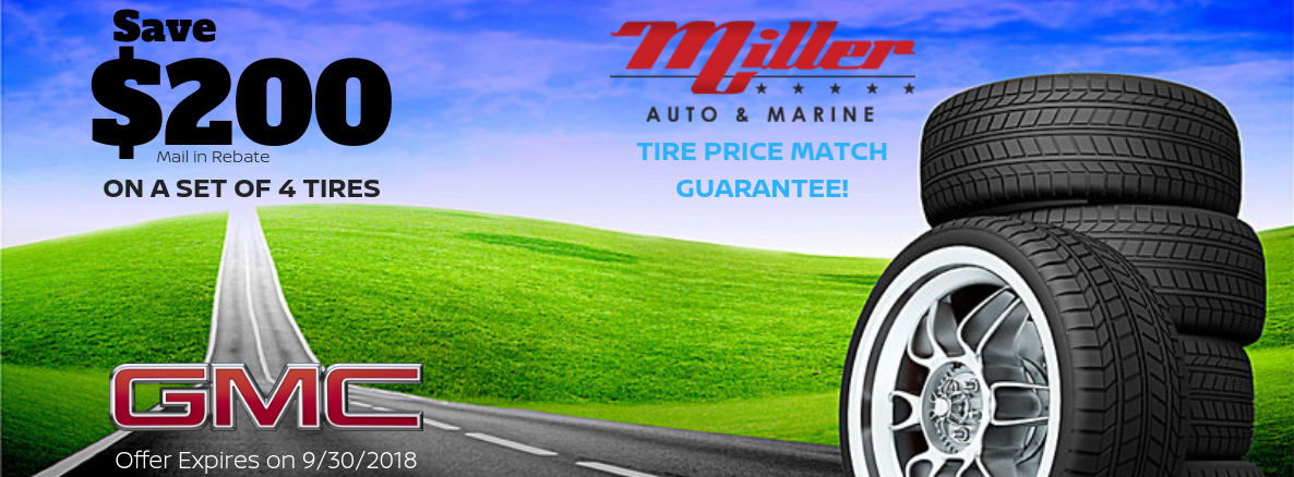 Tire Offer Miller Auto and Marine