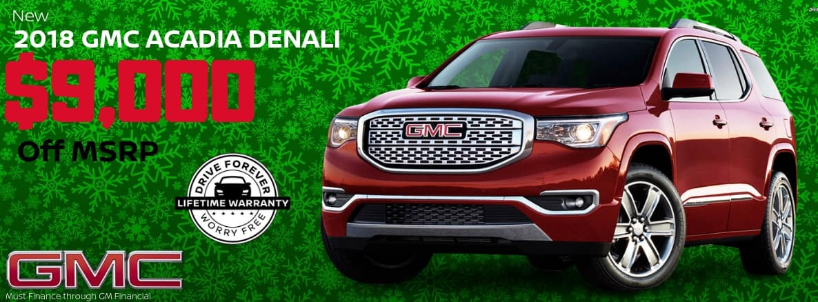 GMC Acadia Miller Auto and Marine Holiday Special