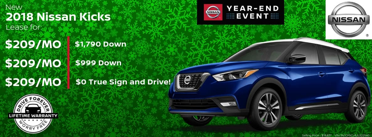 Nissan Kicks Miller Auto and Marine Holiday Special