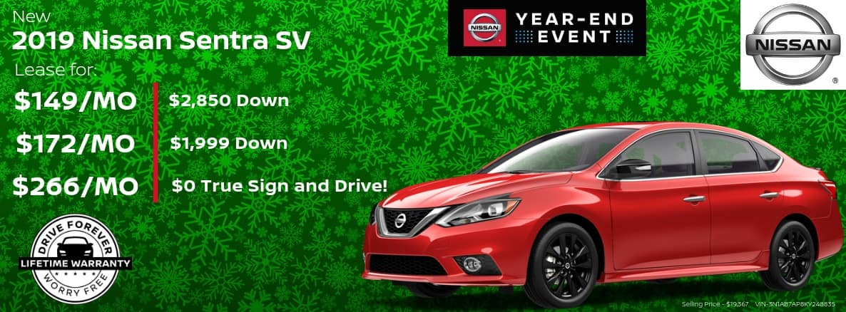 Nissan Sentra Miller Auto and Marine Holiday Special