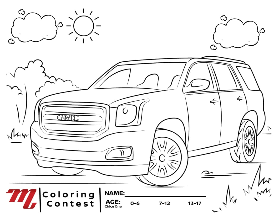 gmc coloring page