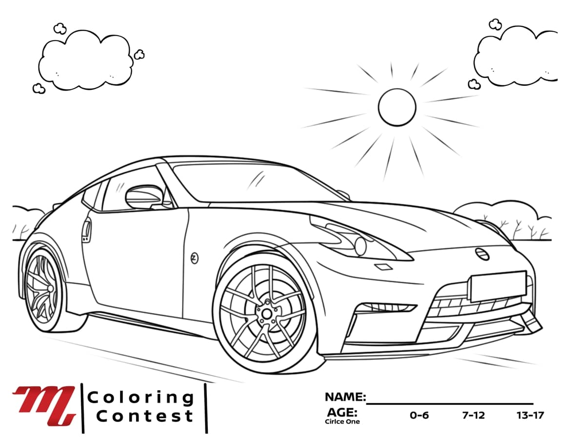 nissan coloring page