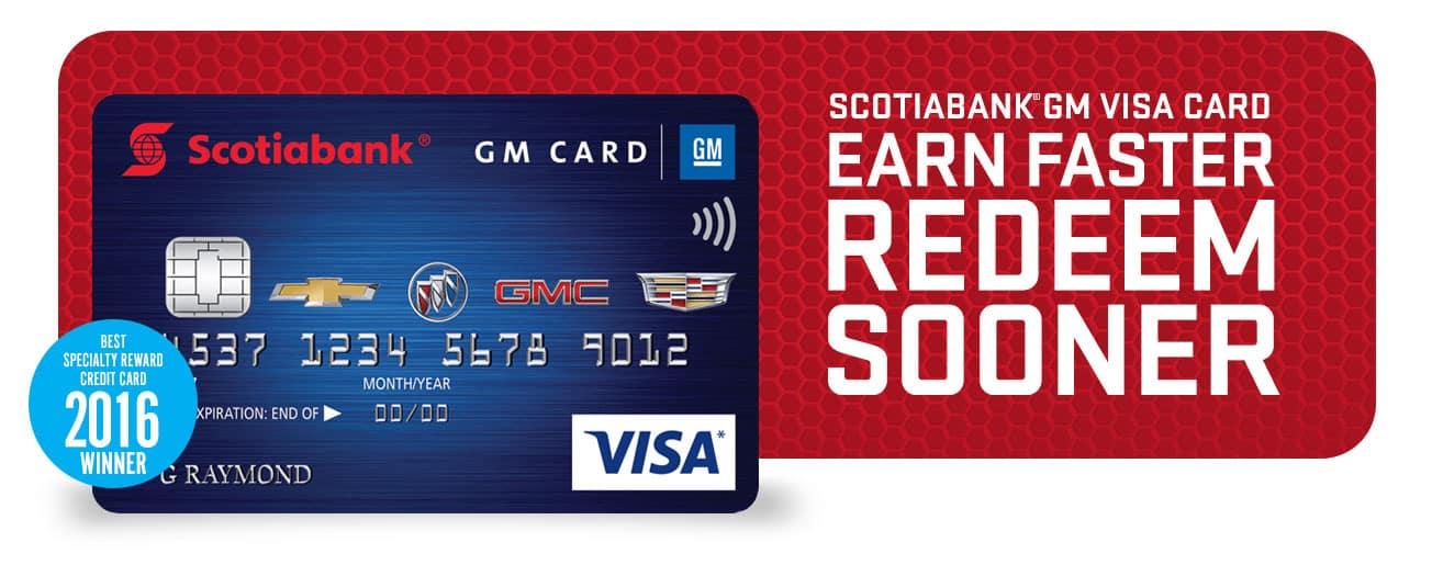 Scotiabank GM Visa Hero Image