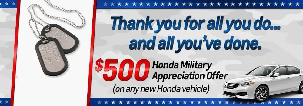 Mohawk Honda Military Offer