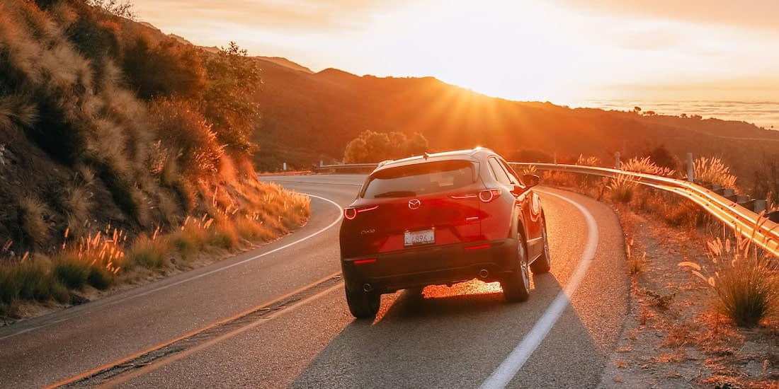 2020 Mazda CX-30 Driving Into The Sunset