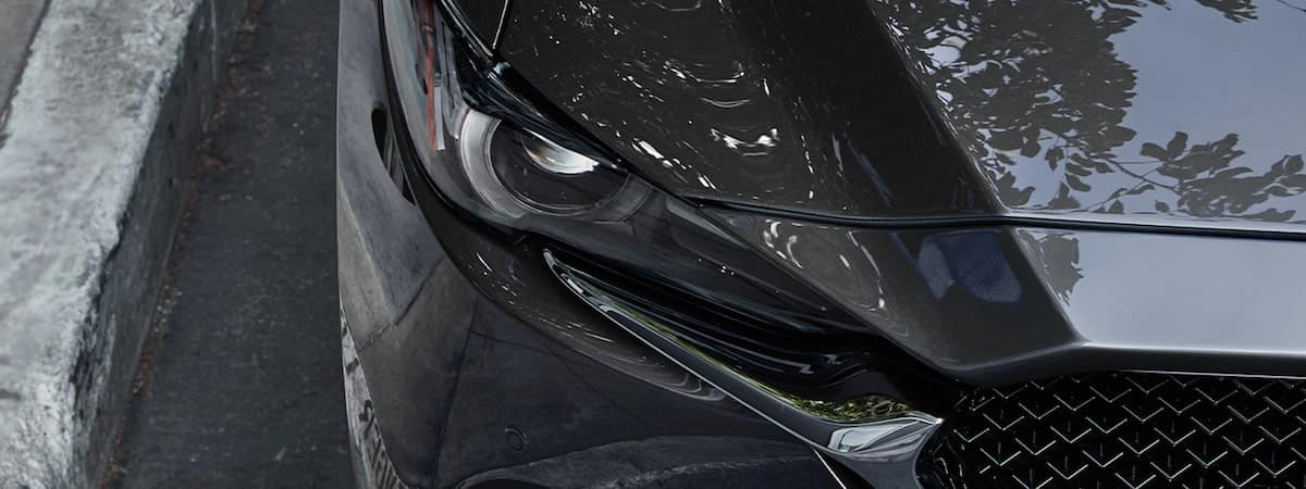 Close-up of the 2020 Mazda CX-5 headlight