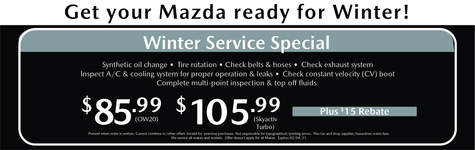January Service Special
