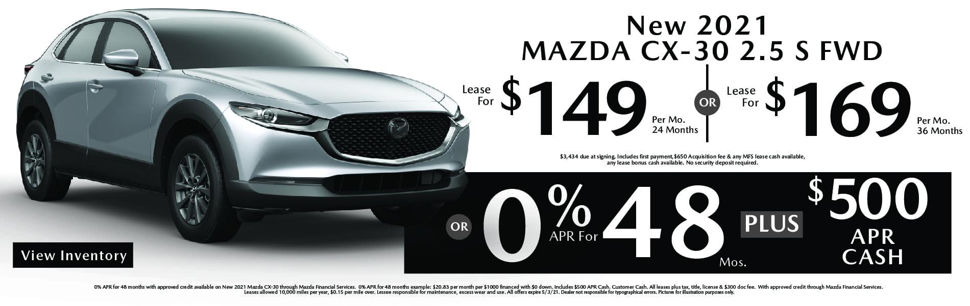 Mazda CX-30 APR & Lease Specials