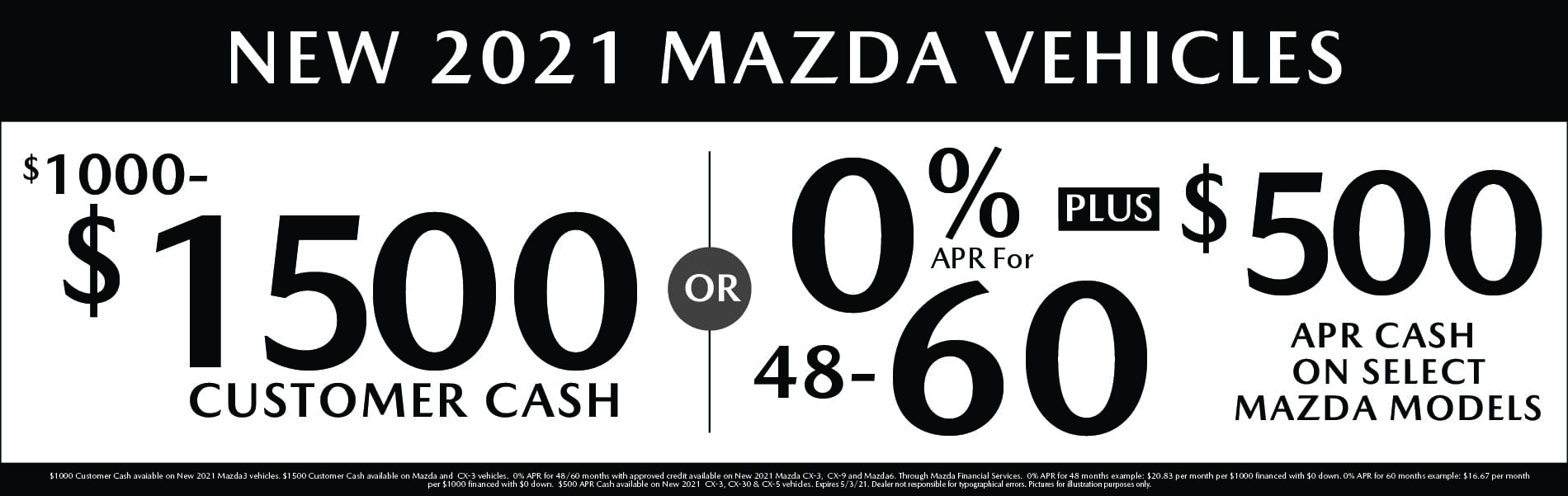 New Mazda Vehicle Specials