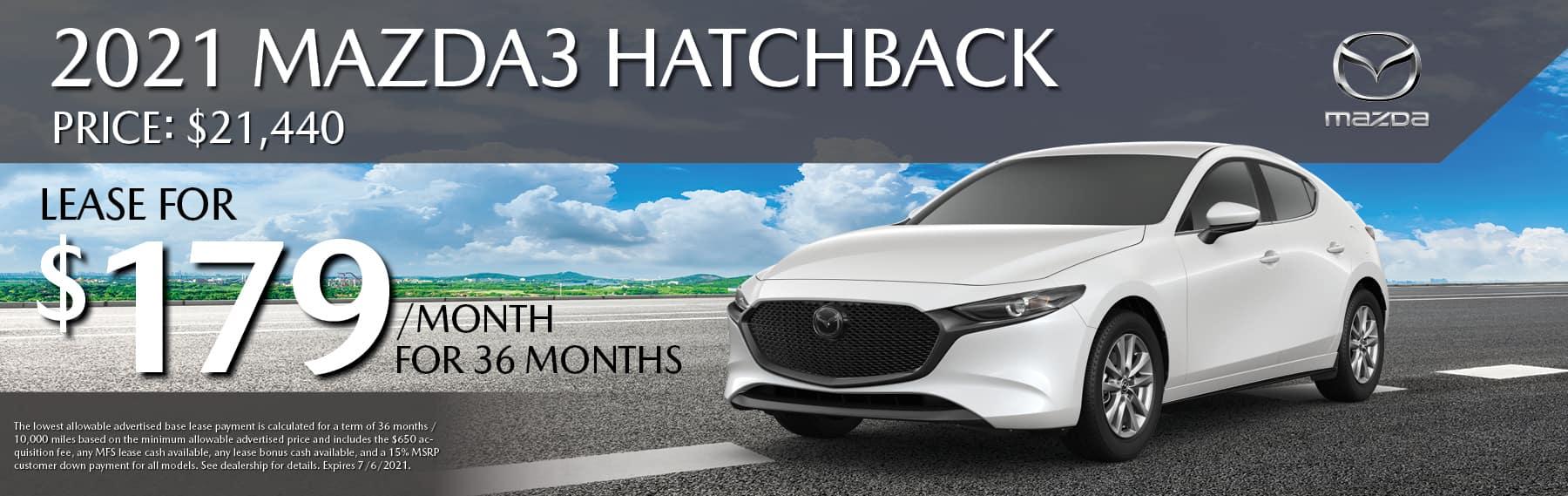 lease mazda 3 hatchback