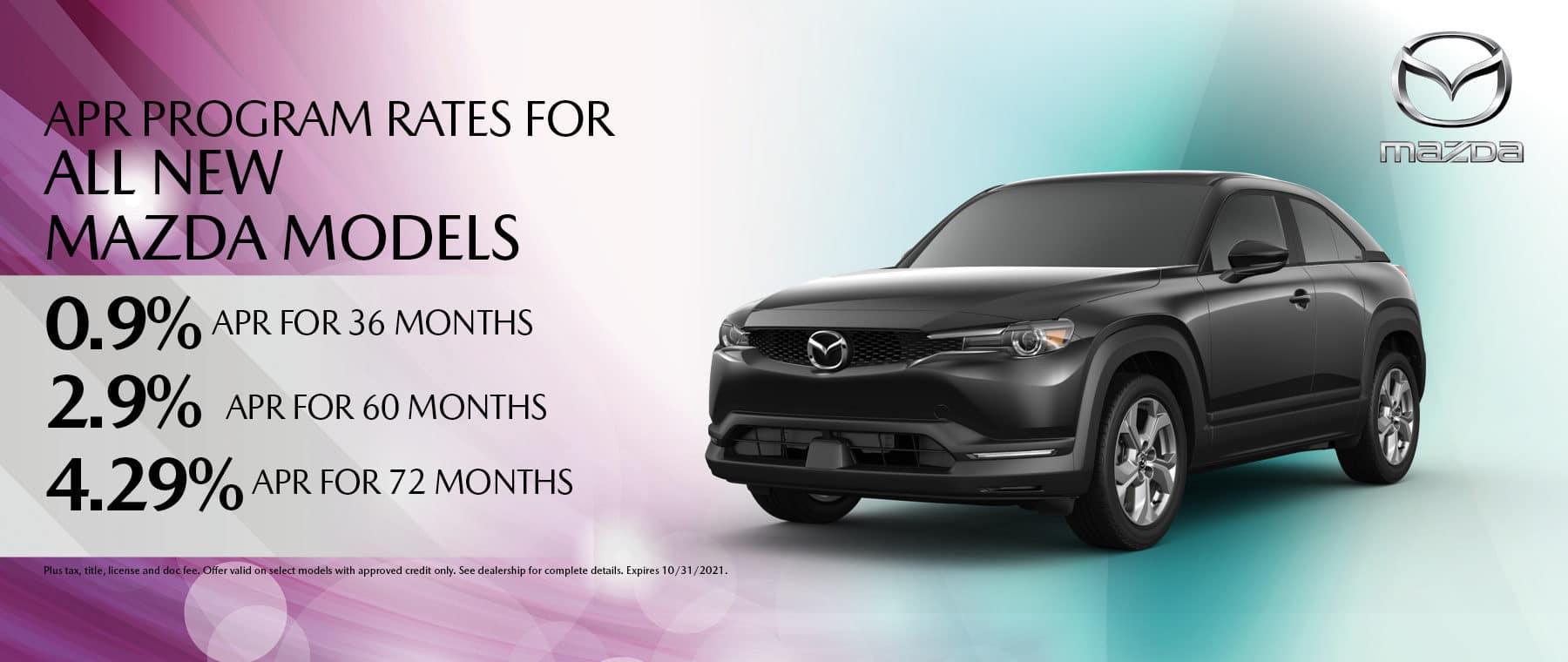 Mazda New Models Oct Deal