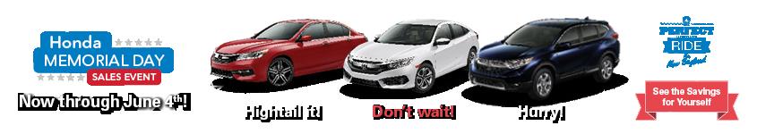 New England Honda Memorial Day Sales Event