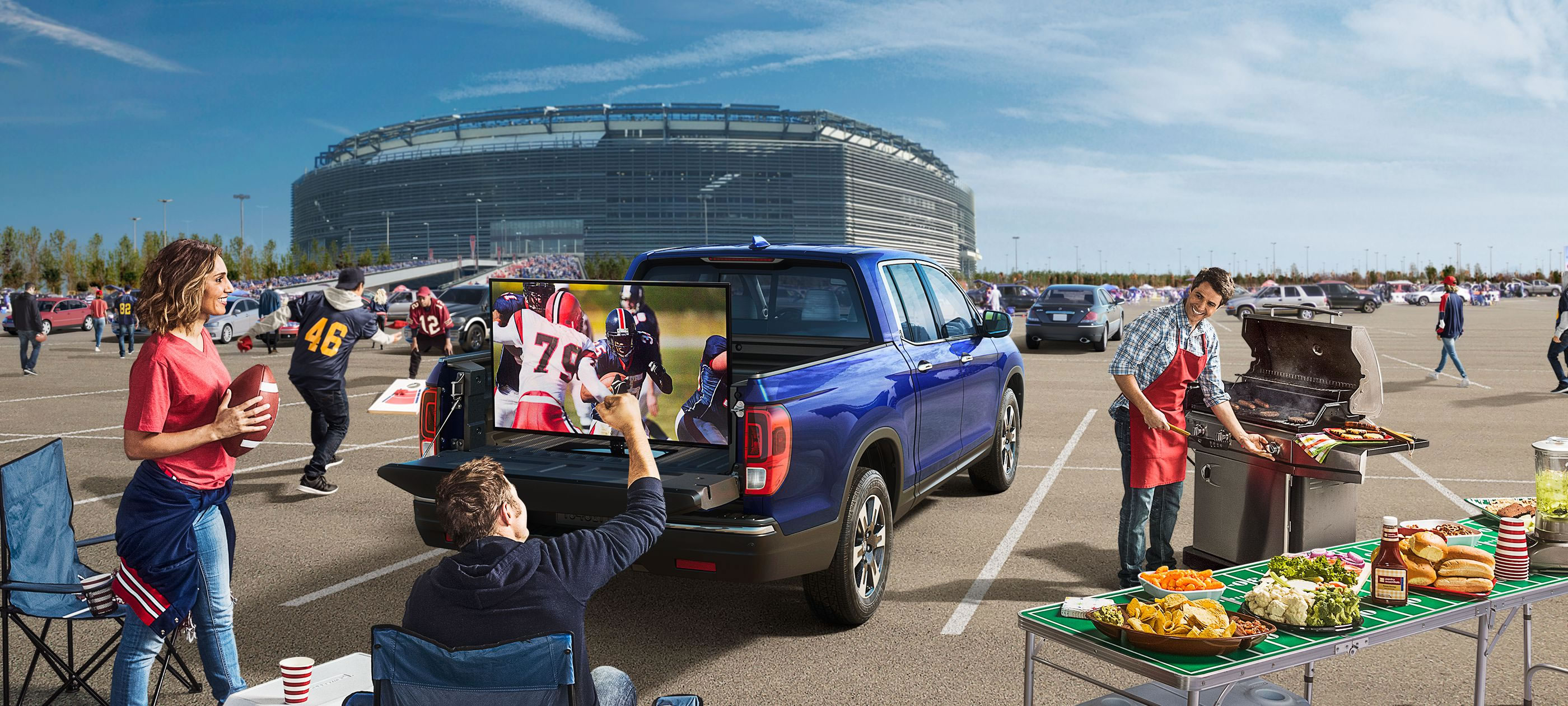 Herb Chambers Honda Westborough >> Experience 2017 Honda Ridgeline Tailgating Action!