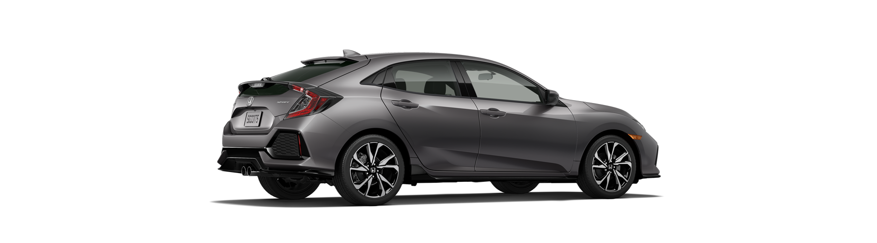 2017 Honda Civic Hatchback Rear Angle