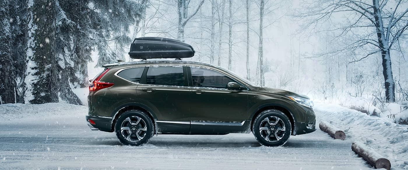2017 Honda CR-V parked in snow