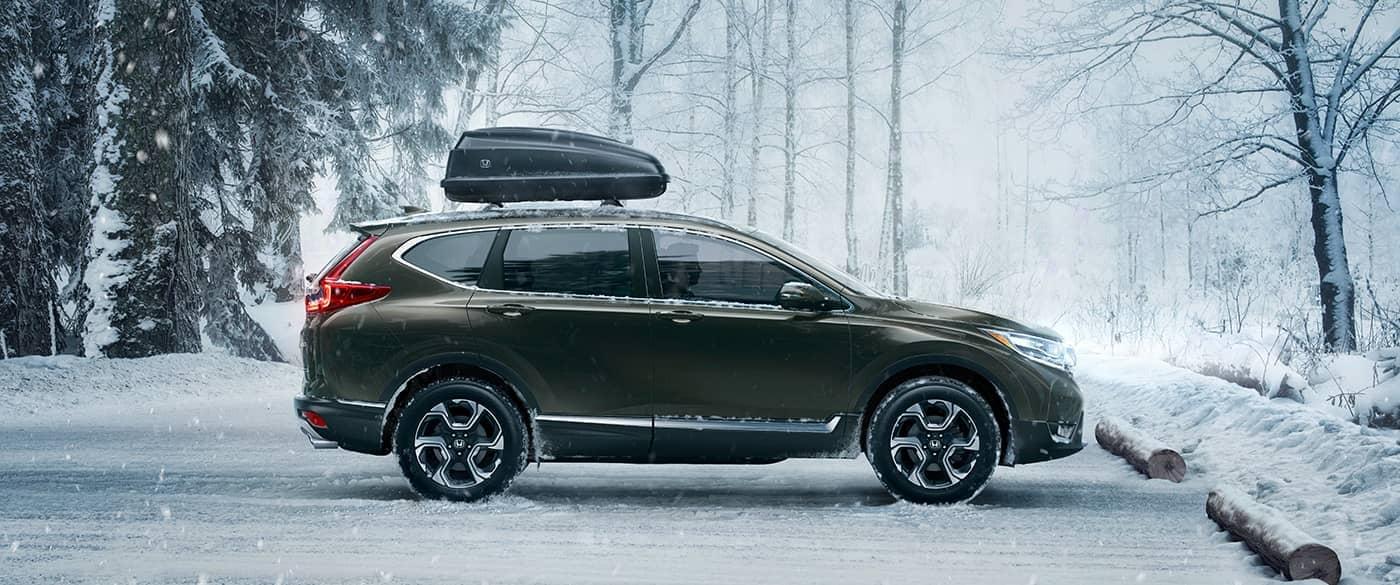 2017 Honda CR-V parked in snow