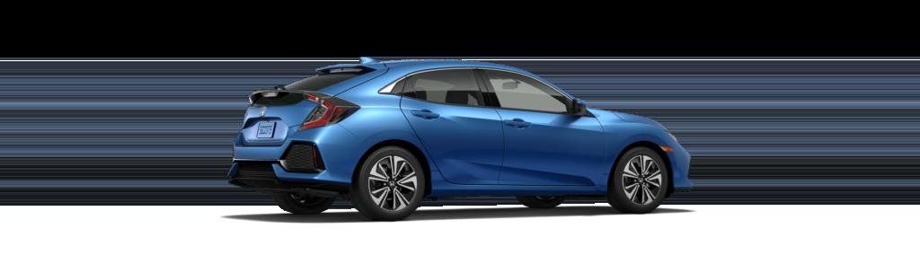 2018 Honda Civic Hatchback Rear Angle