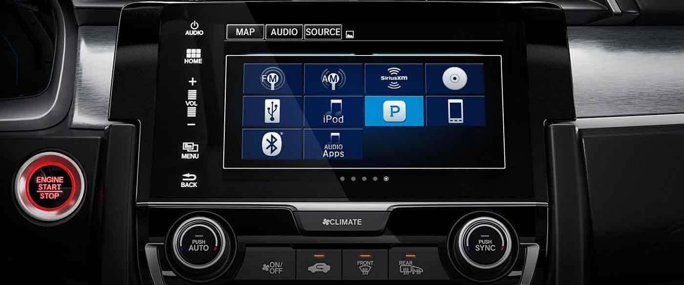 technology features    honda civic sedan