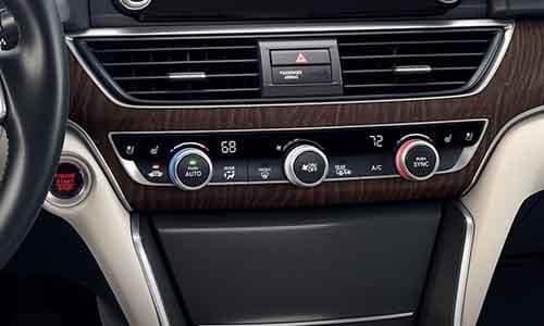 2018 Honda Accord Dual Zone Automatic Climate Control