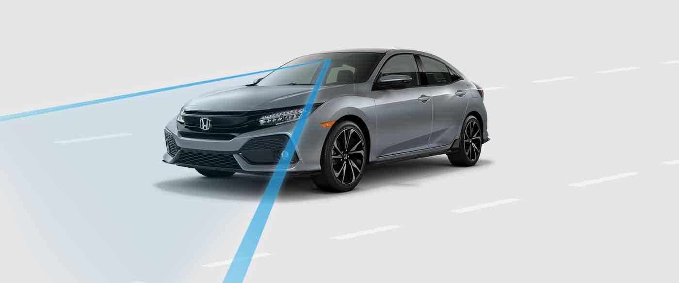 2018 Honda Civic Hatchback Road Departure Mitgation System