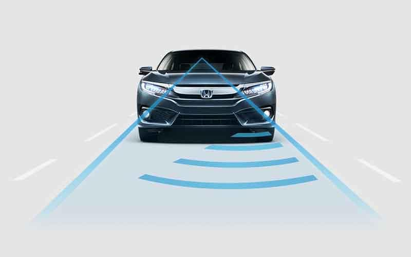 2018 Honda Civic Sedan Honda Sensing Adaptive Cruise Control