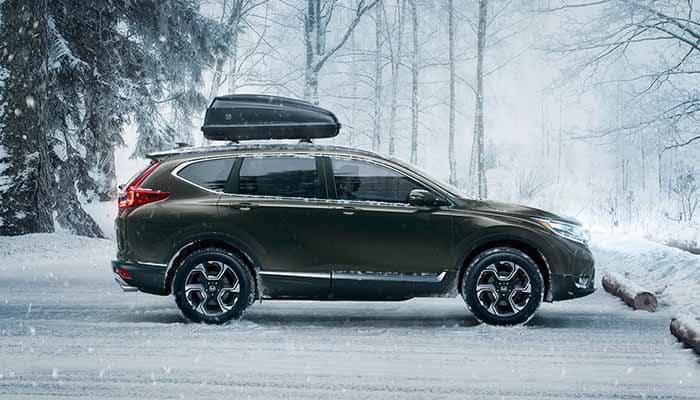 2018 Honda CR-V parked on snowy road