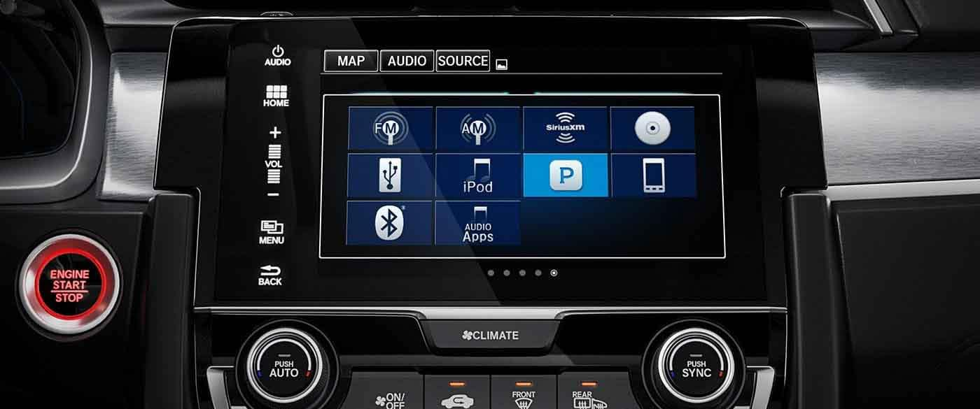 2018 Honda Civic Coupe Audio Display