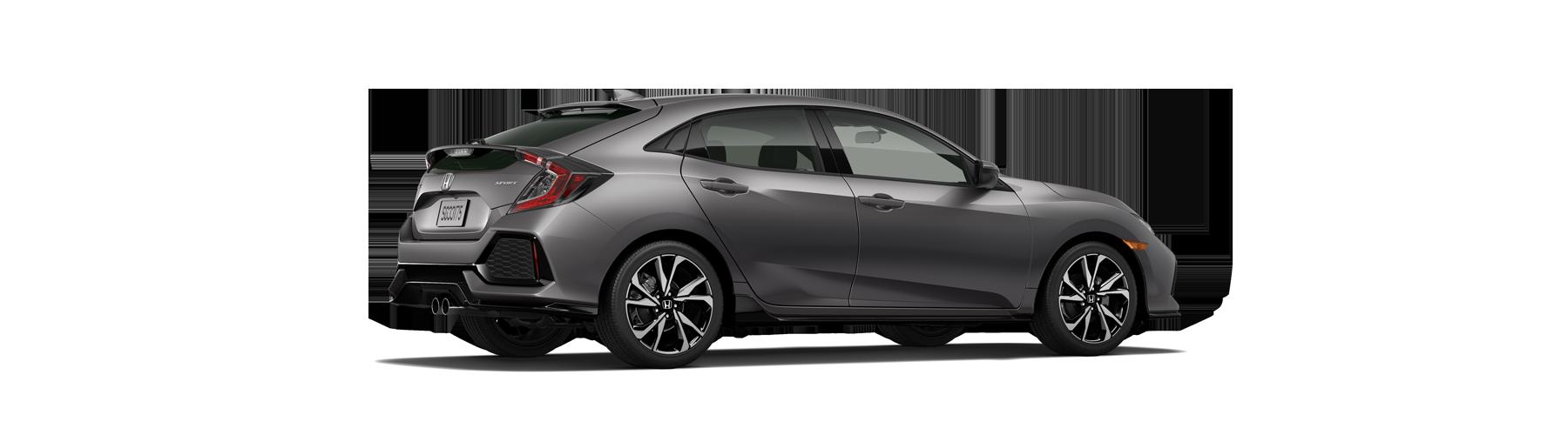 2017 Honda Civic Hatchback Rear Angle