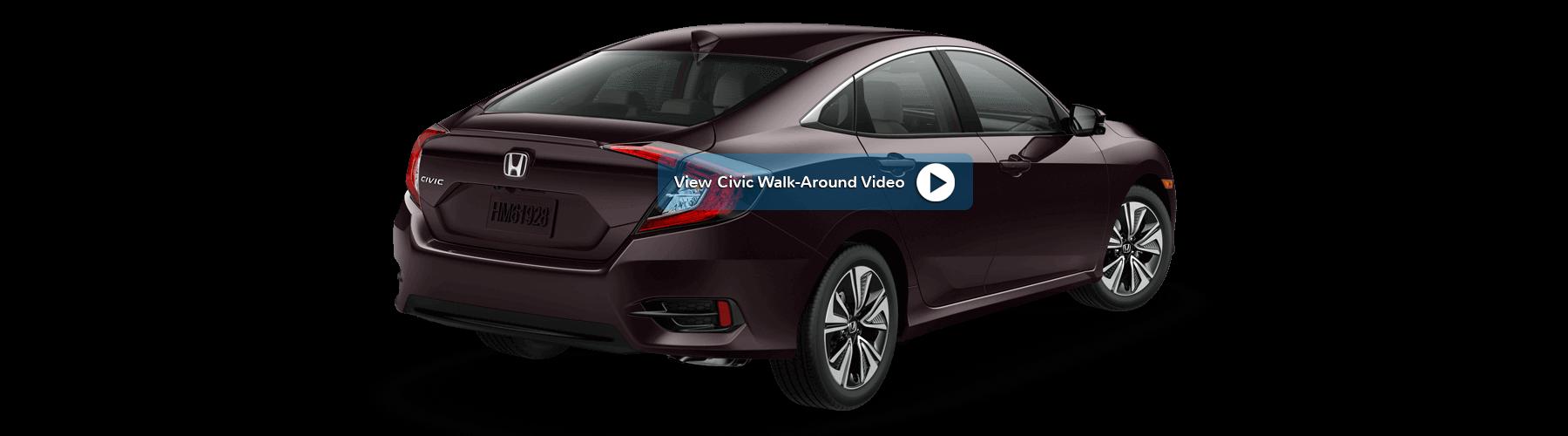 2017 Honda Civic Sedan Rear Angle