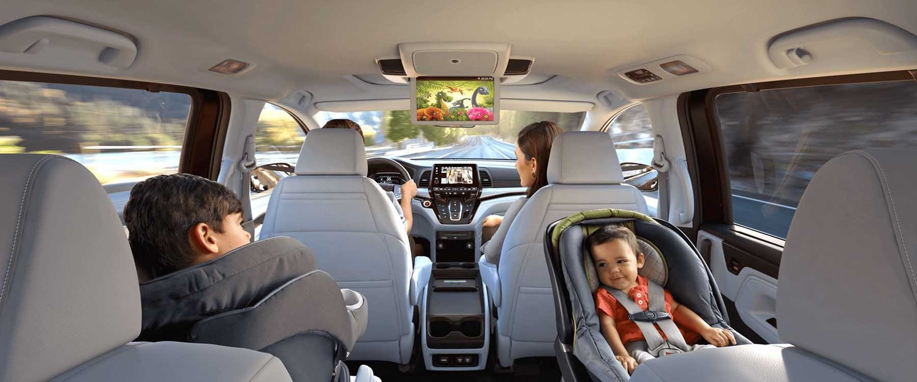 Family Driving in Honda Odyssey