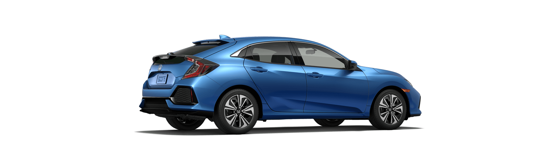 2018 Honda Civic Hatchback Rear Angle