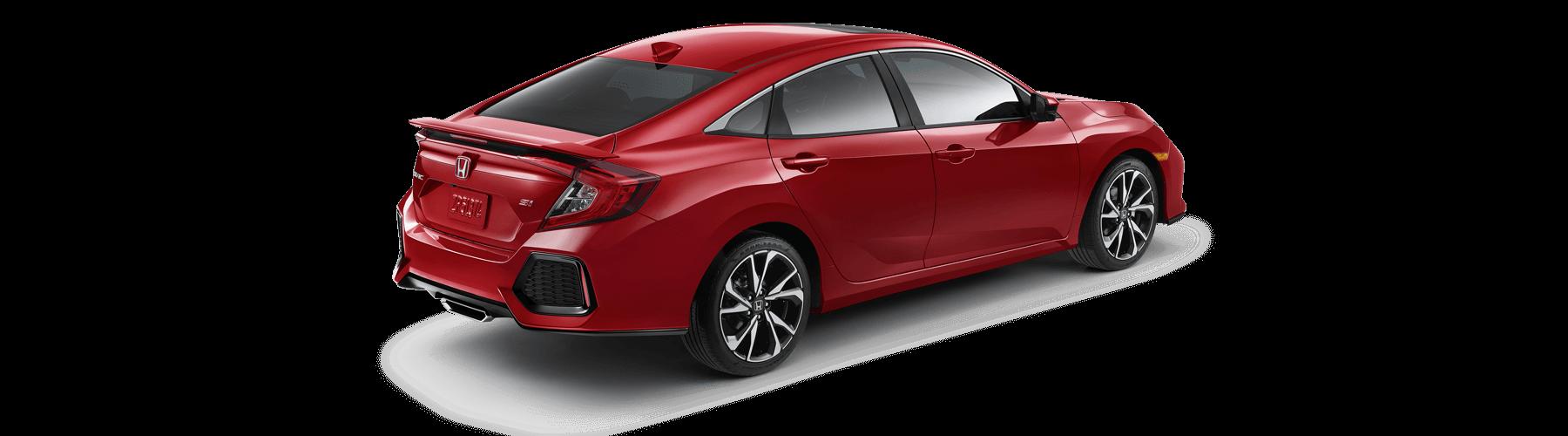 2018 Honda Civic Si Sedan Rear Angle